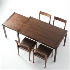 引っ張るだけの伸縮式ダイニングテーブルダイニングテーブル/食卓/食卓テーブル/食堂テーブル/...