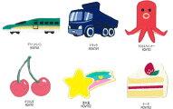 【NEW】お気に入りシリーズグリーントレイン・トラックタコさんウィンナー・さくらんぼ・流れ星・ケーキワッペン(アイロン接着タイプ)