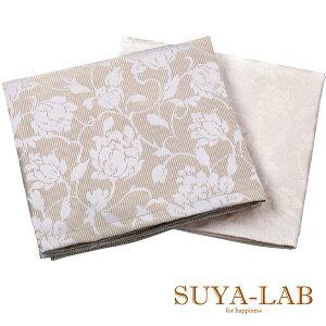 Showa Nishikawa SUYA-LAB Bed spread single 180 × 260cm [antique rose] jacquard weave gloss rose pattern rose pattern beige white made in Japan