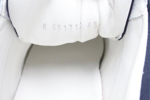 ◆[USED/美品]◆送料無料◆シャネルメンズスニーカー43キャンパスレザーシューズ靴箱付き未使用ネイビーホワイト◆【RCP】【中古】