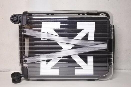 ◆[USED/未使用品]送料無料◆RIMOWA×OFF-WHITEスーツケースキャリーバック36L限定コラボSeeThroughblackシースルーブラック◆【RCP】【未使用品】
