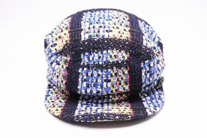 ◆[USED/中古]◆送料無料◆【美品】CHANEL シャネル キャスケット 帽子 CAP ツイード マルチカラー 57 レディース 美品 【RCP】【中古】