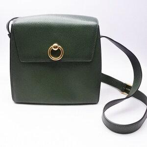 ◆[二手/二手]◆免费送货◆[二手] CELINE赛琳(Celine)圆形金属皮革单肩包绿色红色复古女士包[RCP] [二手]