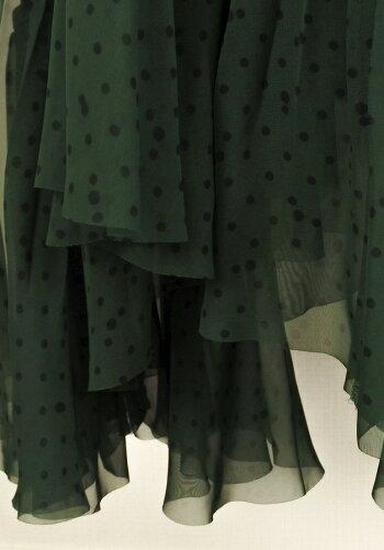 ◆[USED/中古]◆送料無料◆Sacaiサカイサカイ2019SSドット柄スカート巻きスカートロングアシンメトリーシフォンシースルー中古【RCP】【中古】