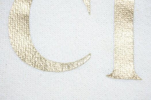 ◆[USED/中古]送料無料◆グッチgucci:ヴィンテージオールドロゴ入りプルオーバーパーカーBLINDFORLOVE×ドッグ犬×刺繍ホワイト(M)スエット/スウェット/コットンジャージー/スウェットシャツ/フーディ◆【RCP】【中古】◆