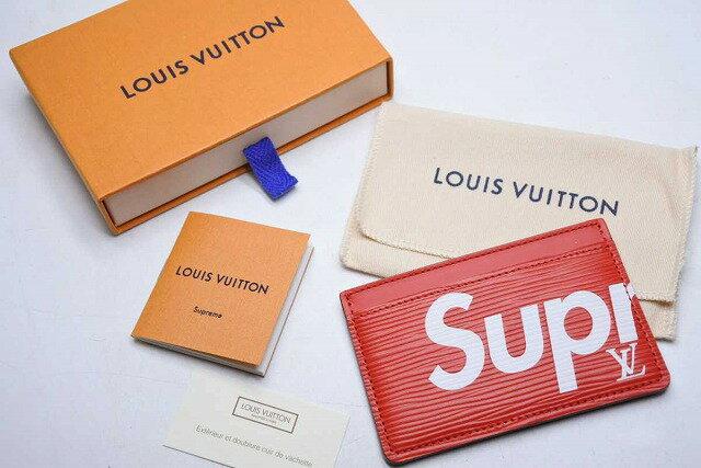 財布・ケース, 定期入れ・パスケース USEDLouis Vuitton Supreme M67712 15632RCP