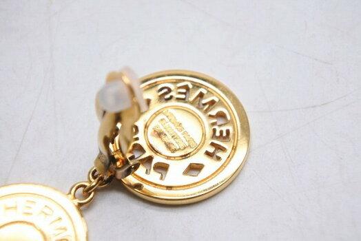 ◆[USED/中古]◆送料無料◆【中古】HERMESエルメスレアセリエイヤリング3連ゴールドレディースぶら下がり中古21940【RCP】【中古】