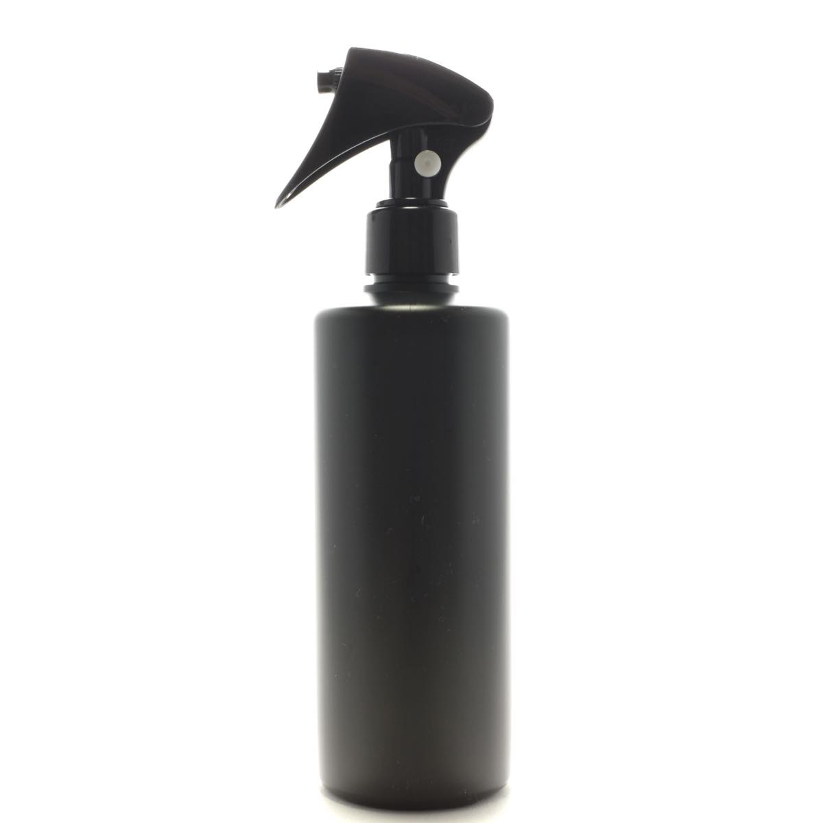 ミニトリガースプレー 300ml PE ストレートボトル [ ボトル:遮光黒 / トリガー:ブラック(プッシュロック白) ]