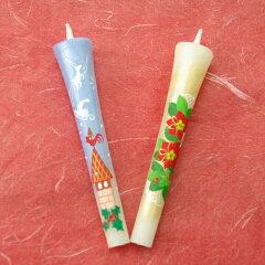 【クリスマス】特別柄 絵ろうそく3号ポインセチア 絵ローソク 和ろうそく 仏具