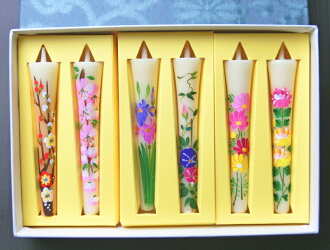 Leave it to the store manager, peace of mind! Convincing staple! Flower poems ( hand-painted ) 6 book pieces.