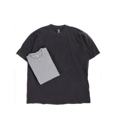LOSANGELESAPPARELロサンゼルスアパレル6.5オンスピグメントダイTシャツ半袖無地厚手LAAPPAREL6.5OZS/SPIGMENTTDYESHORTSLEEVET-SHIRTMADEINUSA