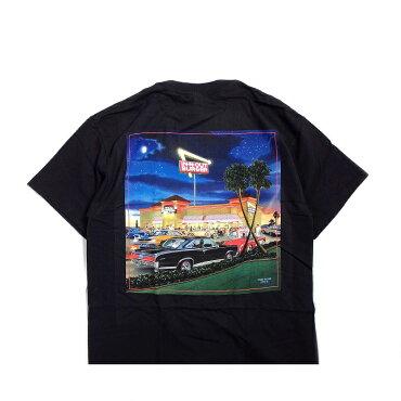 IN-N-OUTBURGERインアンドアウトバーガーTシャツ半袖プリントブラックNOWANDTHENSHORTSLEEVET-SHIRT