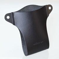 SlipinPremiumブッテーロ【ブラック】--iPhoneXRXSMax8Plusホルダーケース本革製スマートフォンポーチ