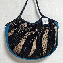 sisiグラニーバッグ定番サイズソファーブルー軽くて使いやすくてたためる布バッグショルダーバッグ