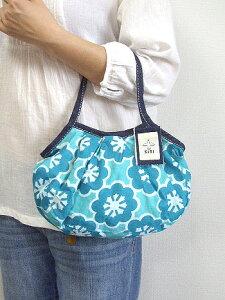 sisi グラニーバッグ ミニサイズ モザイク花 ブルーラグーン sisバッグ 小さくてもしっかり入るサブバッグ!ポーチ バッグインバッグにもおすすめ バティック ろうけつ染め