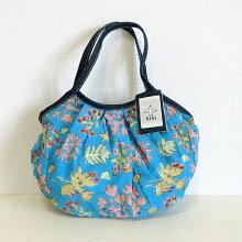 【メール便】sisiミニグラニーバッグ珊瑚ブルーsisバッグ小さくてもしっかり使えるサブバッグ!ポーチバッグインバッグにもおすすめミニグラニーインドブロックプリント