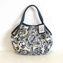 【メール便】sisiミニグラニーバッグリネンコットン花柄sisバッグ小さくてもしっかり使えるサブバッグ!ポーチバッグインバッグにもおすすめミニグラニー