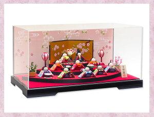 雛人形ケース飾り「優しい笑顔 扇面三段わらべ雛10人揃い」rhk057s||ひな人形 かわいい…