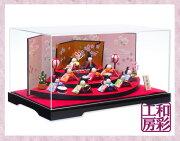 雛人形ケース飾り「優しい笑顔扇面三段わらべ雛10人揃い」rhk057s
