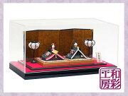 雛人形ケース飾り「西陣金襴京桜蒔絵雛親王飾り」rhk170