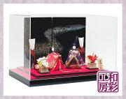 雛人形ケース飾り「正絹古布調高級夢見雛」rhk194