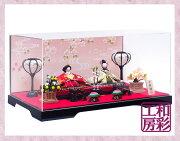 雛人形ケース飾り「花屏風西陣金襴花小路雛」rhk370