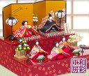 雛人形 ひな人形「高級バージョン 彩り友禅雛 五人揃い 二段...