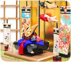 【京都の手づくり和雑貨 五月人形・こいのぼり・兜飾り】五月人形「端午の節句 悠久兜 こいのぼ...