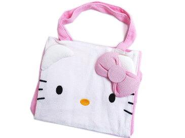 和×ハローキティちゃんコラボ フェイスミニトートバッグ(ランチバック)ピンク