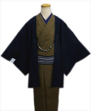 粋なメンズ男物男性羽織単品濃紺色M・L・LL 和装着物コート冬の必需品