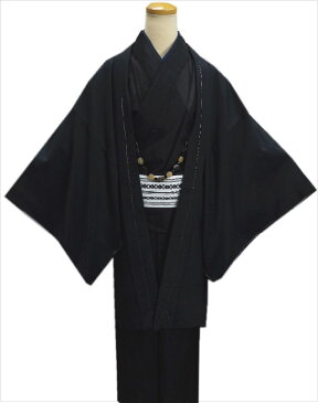 粋なメンズ男物男性羽織単品黒色M・L・LL 和装着物コート冬の必需品