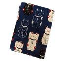 カード 保険証 名刺 入れ ケース 6P 和柄 福あつめ招き猫濃紺 日本製 女性用 レディース メンズ 男性用 子供用 キッズ ねこ ネコ