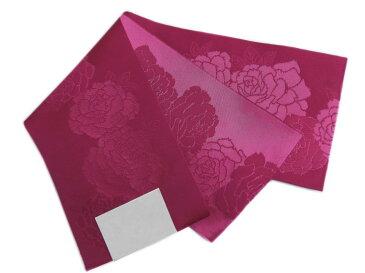 小粋柄半巾帯半幅帯ワイン色地薔薇 浴衣ゆかた&卒業式袴に 女性用レディース 日本製