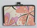 和小物 和柄がま口口金スマホケース(入れ)桜