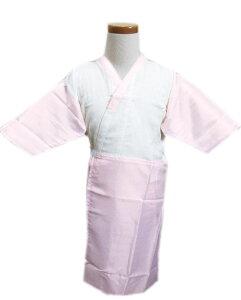 子供用 女の子 ワンピース肌着スリップ 肌襦袢 白色地ピンク 3歳 5歳 7歳 キッズ 女児 着物 和装 下着 七五三 お正月