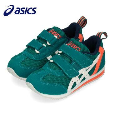 アシックス asics スニーカー キッズ ベビー スクスク アイダホ MINI 3 TUM186-300 グリーン すくすく 子供靴 ベルクロ