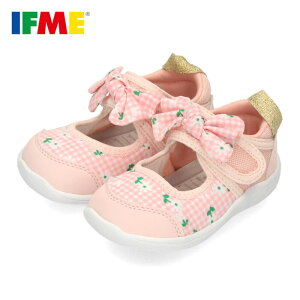 イフミー サンダル ベビー IFME 子供靴 女の子 ピンク 22-0105 キッズ シューズ 水遊び 速乾 水陸両用