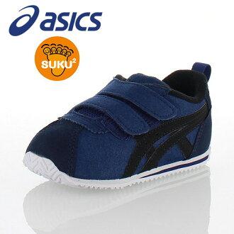 亞瑟士asics sukusuku SUKUSUKU korusea BABY VIN TUB156-5090小孩嬰幼鞋運動鞋海軍藍黑色