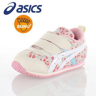 亞瑟士asics sukusuku SUKUSUKU mekishikonaro BABY CT 2 TUB163-18F小孩嬰幼鞋運動鞋粉紅