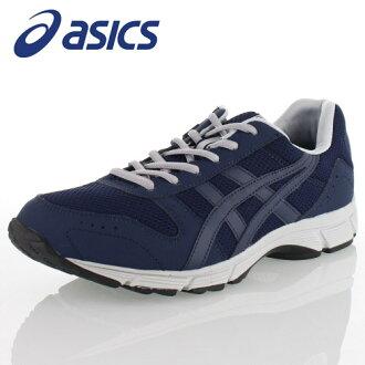 有asics亞瑟士GEL-FUNWALKER214 TDW214-58人走路用的鞋拉鏈的寬度寬大的深藍