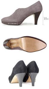 cavacavaサヴァサヴァ靴3720167センタースリットブーティ深パンプスヒール本革スエード