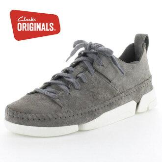 克拉克斯原件 Clarks 原件 Trigenic Flex。 Trigenic Flex 木炭麂皮絨 843 炭灰色休閒鞋女子