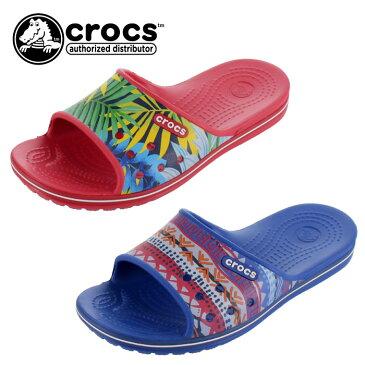 クロックス crocs サンダル レディース メンズ クロックバンド 2.0 グラフィック スライド 204803 シャワーサンダル ビーチサンダル スポーツサンダル レッド ブルー セール
