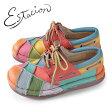 エスタシオン 靴 estacion TG154 (MT) 本革 厚底 カジュアルシューズ コンフォートシューズ レディース 紐靴 レースアップシューズ マルチカラー