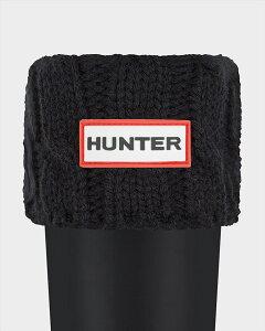 HUNTERハンターブーツ6ステッチケーブルソックスUORGTALLBS6STCHCABLEACR3036UAS3036AABトール専用BLACK(BLK)ブラック