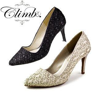 Climbクライム1016レースポインテッドトゥパンプス結婚式パーティー靴