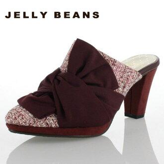 果凍果凍豆豆鞋 8229 sabosandal 騾子絲帶酒紅女士