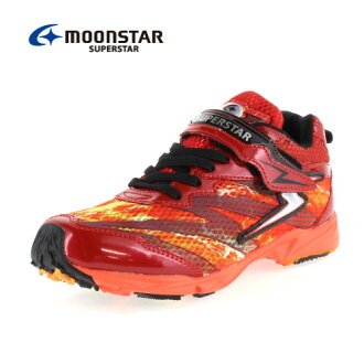 小MOONSTAR MoonStar大明星SS J711 RD-00711發條的力量小孩運動鞋2E inazumasupurintareddo