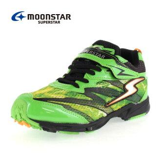 小MOONSTAR MoonStar大明星SS J711 GN-00711發條的力量小孩運動鞋2E inazumasupurintagurin