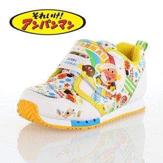 上啊!麵包超人MoonStar MOONSTAR APM C137白WHITE小孩跑步鞋運動鞋尼龍粘鏈
